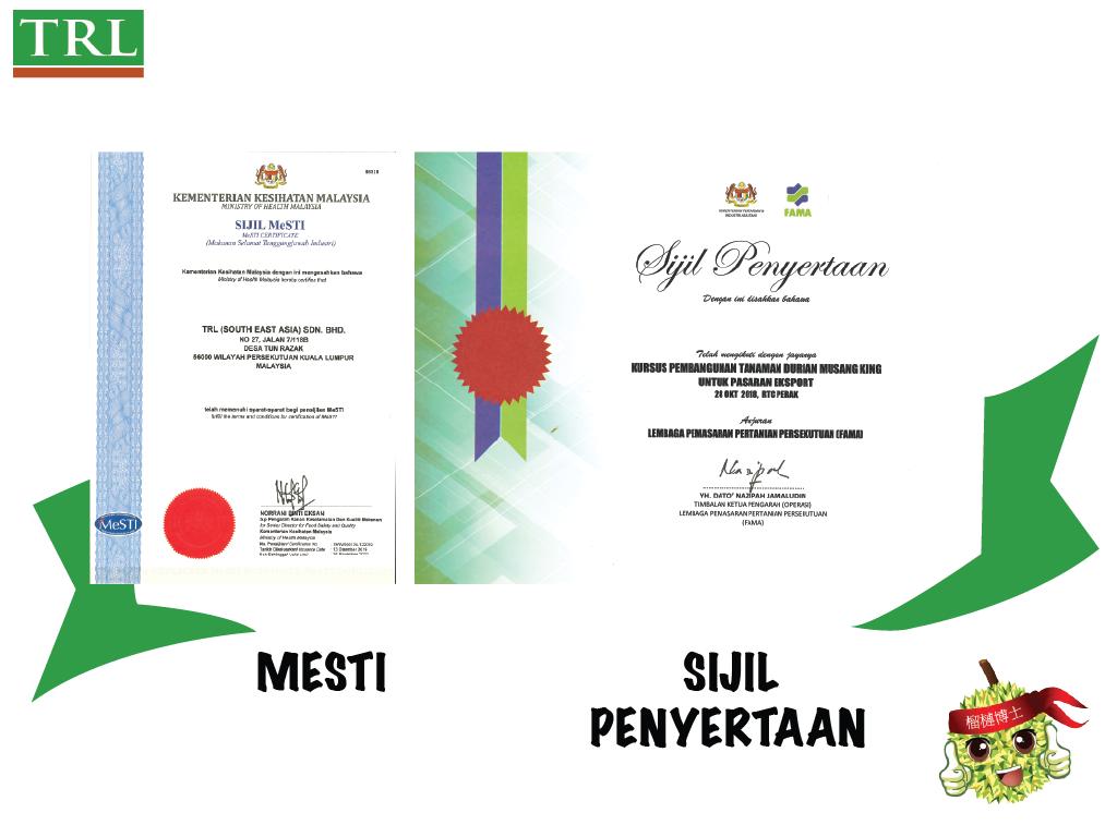 TRL Asia Halal Certificate
